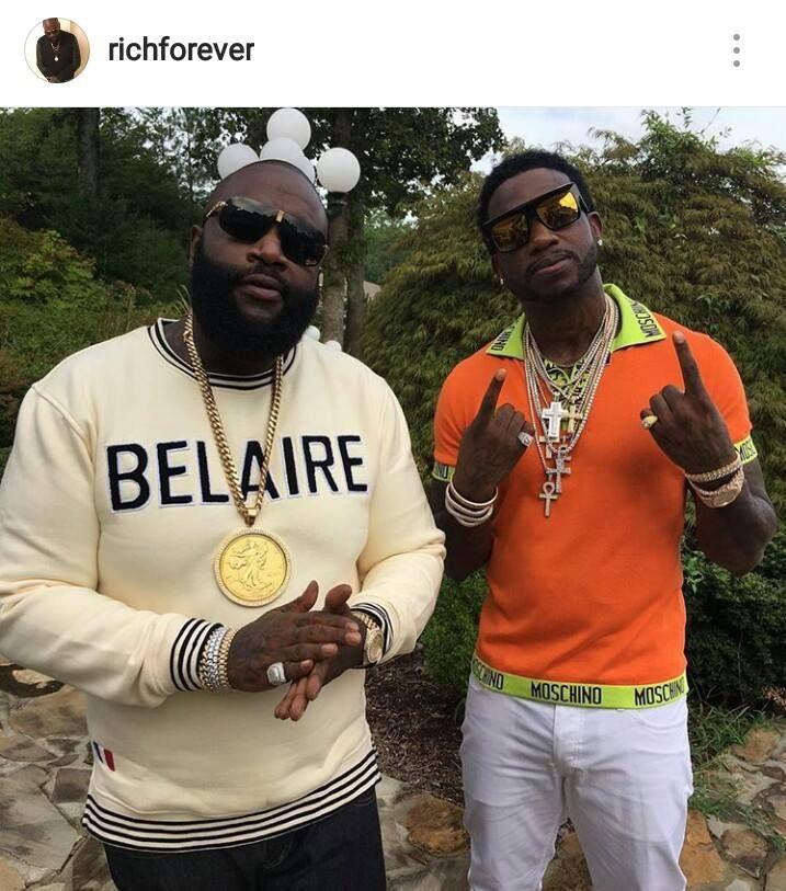 8cbddfbb Rick Ross & Gucci Mane   Ʀł₡ƙ ƦØ$$ ŦҤE BØ$$   Mcm shoes, Gucci mane ...