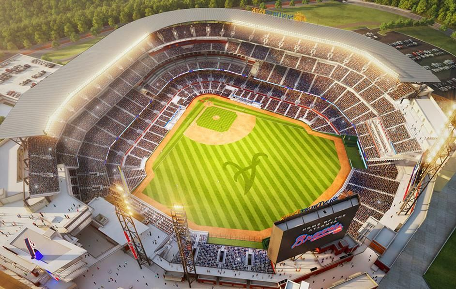 Suntrust Park Map Seating Chart Gates And Entrances Suntrust Park Atlanta Braves Stadium Mlb Stadiums