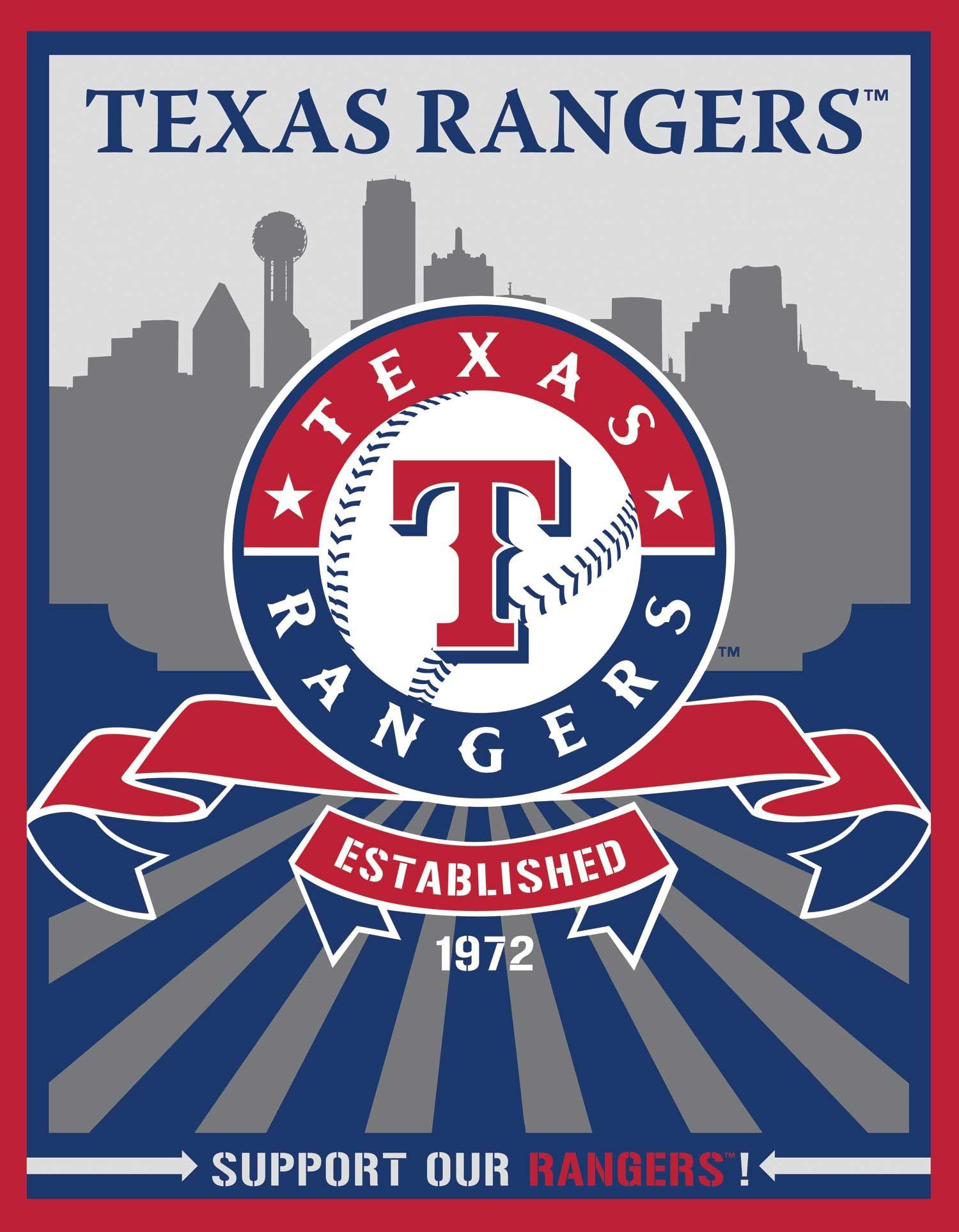 Texas Rangers Speakman Art Target Mlb Texas Rangers Texas Rangers Baseball Texas Baseball