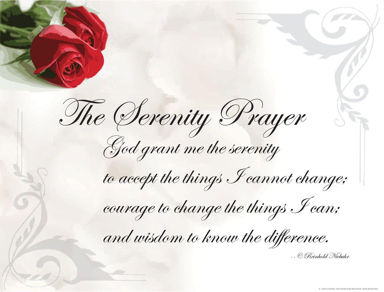 Serenity Prayer The Serenity Prayer Wallpaper Christian