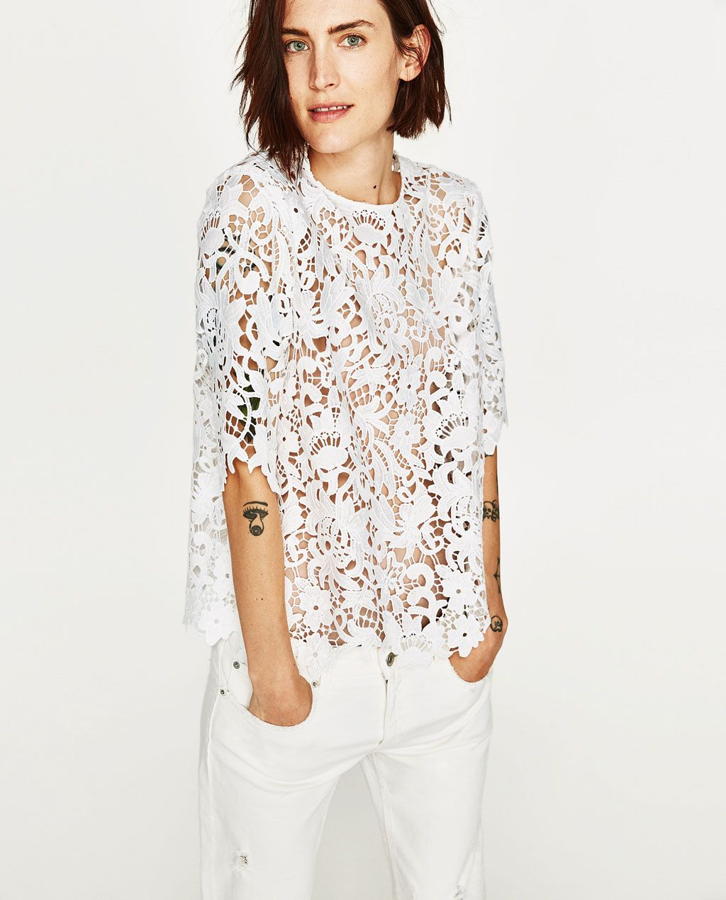 1133f4f9d6 LACE TOP-Blouses-TOPS-WOMAN
