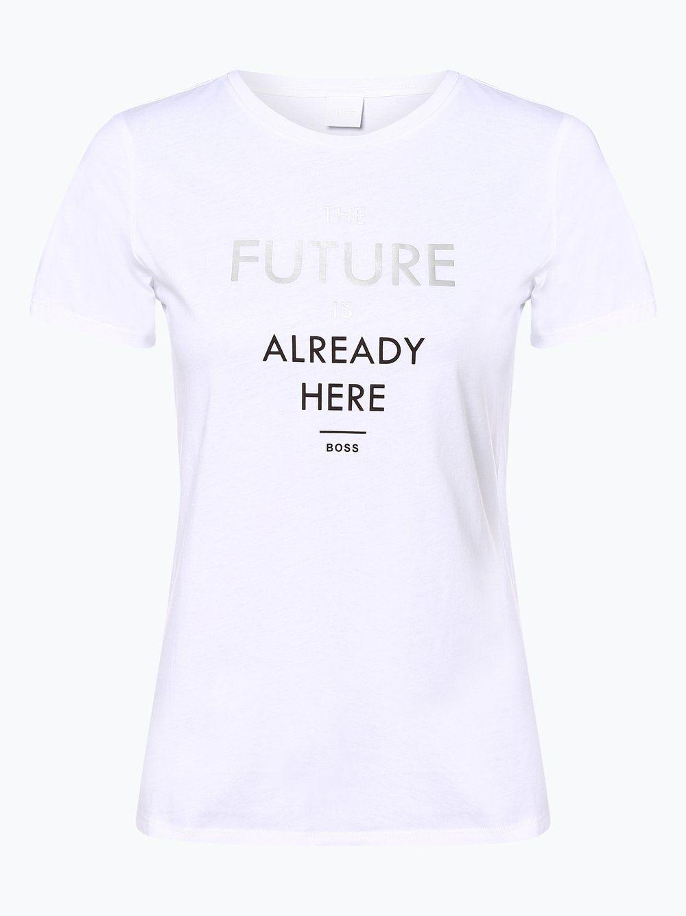 Boss Casual T Shirt Tecut Weiss T Shirt Damen