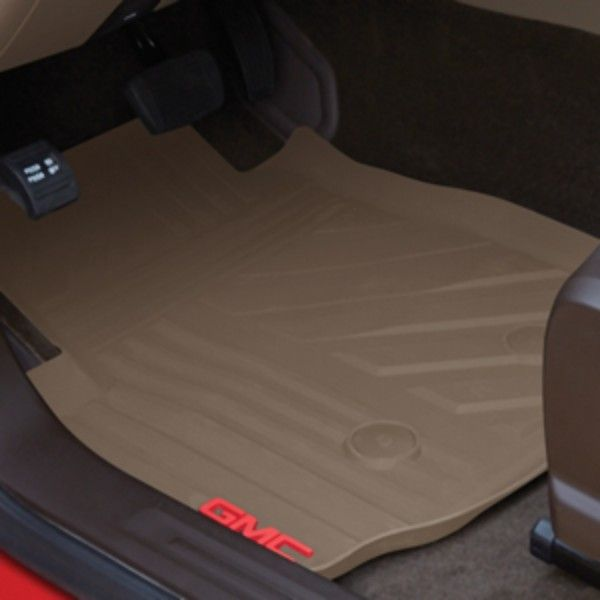 Canyon Floor Mats Front Premium All Weather Gmc Logo Cocoa