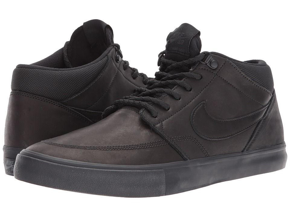 best website 175a7 be5ed Nike SB Solarsoft Portmore II Mid Premium Skateboarding Mens Shoes  BlackBlackAnthracite