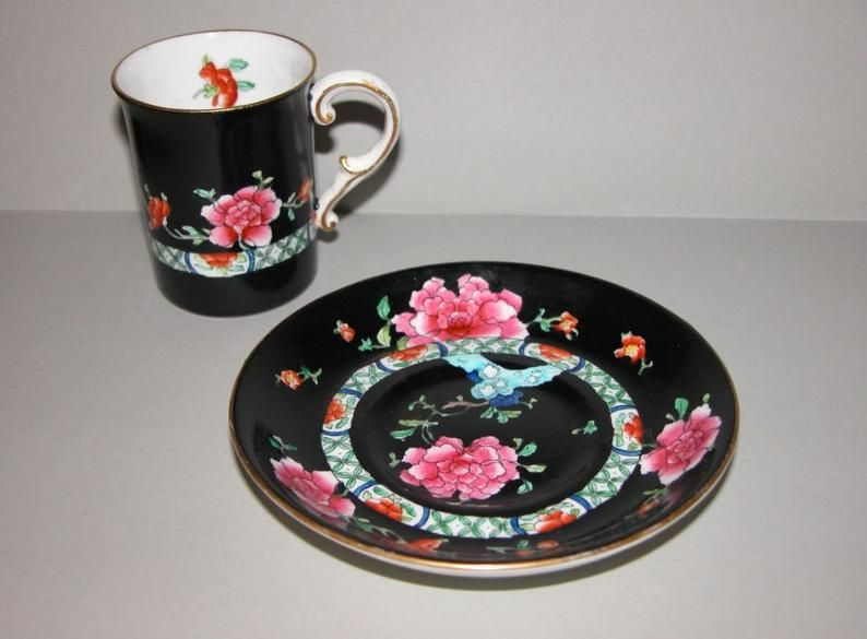 Rare Antique George Jones And Sons Crescent Ware Sons Etsy Coffee Cups And Saucers Cup And Saucer Rare Antique