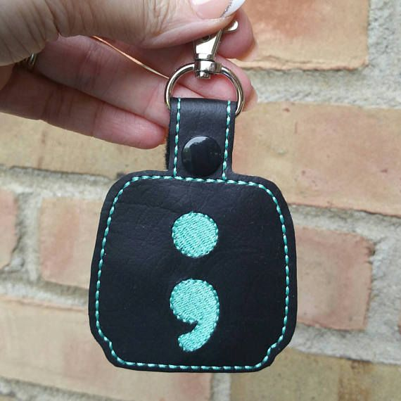 Semicolon Hand Sanitizer Holder Great For Keys Bags Belt Loops