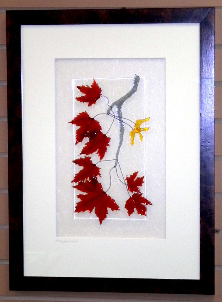 Maple Leaves - Fused glass panel, Feb. 2011 | by Niven Glass Originals
