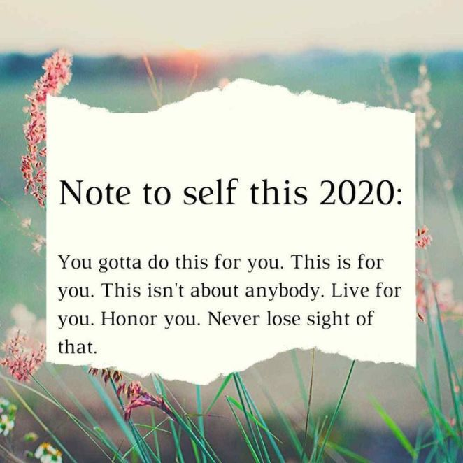 Happy New Year Quotes : Note to self quotes for 2020 year