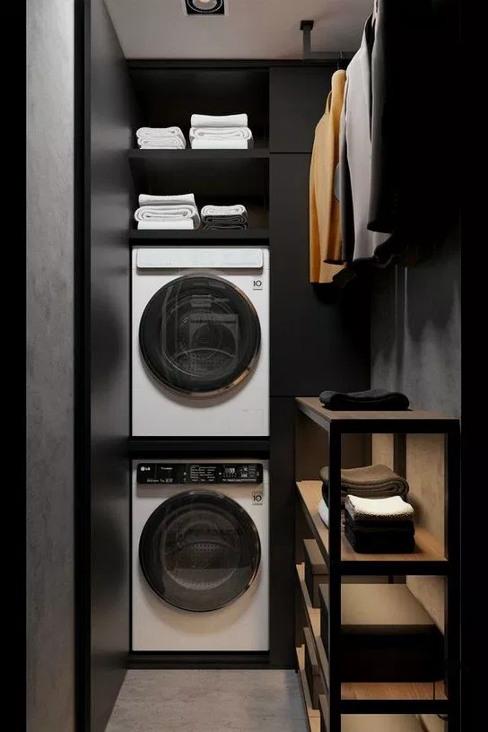15 Clever Laundry Room Ideas That Are Practical And Space Efficient Vintage Laundry Room Laundry Decor Closet Design Layout