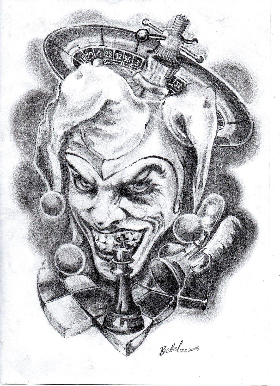Desenho Palhaço Tatuagem img0753 (1162×1600) | tatuagem de duende, tatuagem de