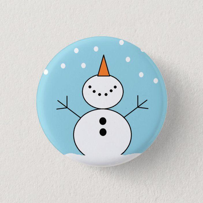"""""""It's Snowing"""" Snowman Button"""