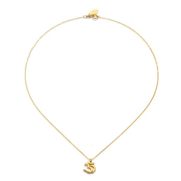 Satya Jewelry Sanskrit Om Pendant Necklace | neclaces
