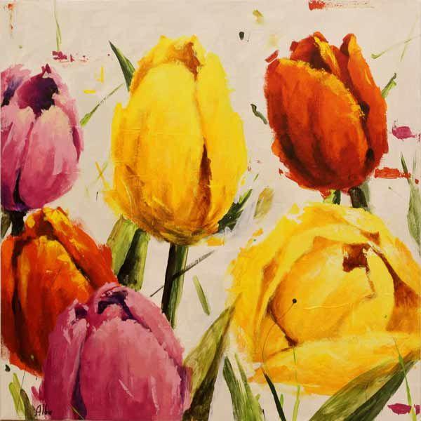 pinturas al oleo abstractas de flores buscar con google
