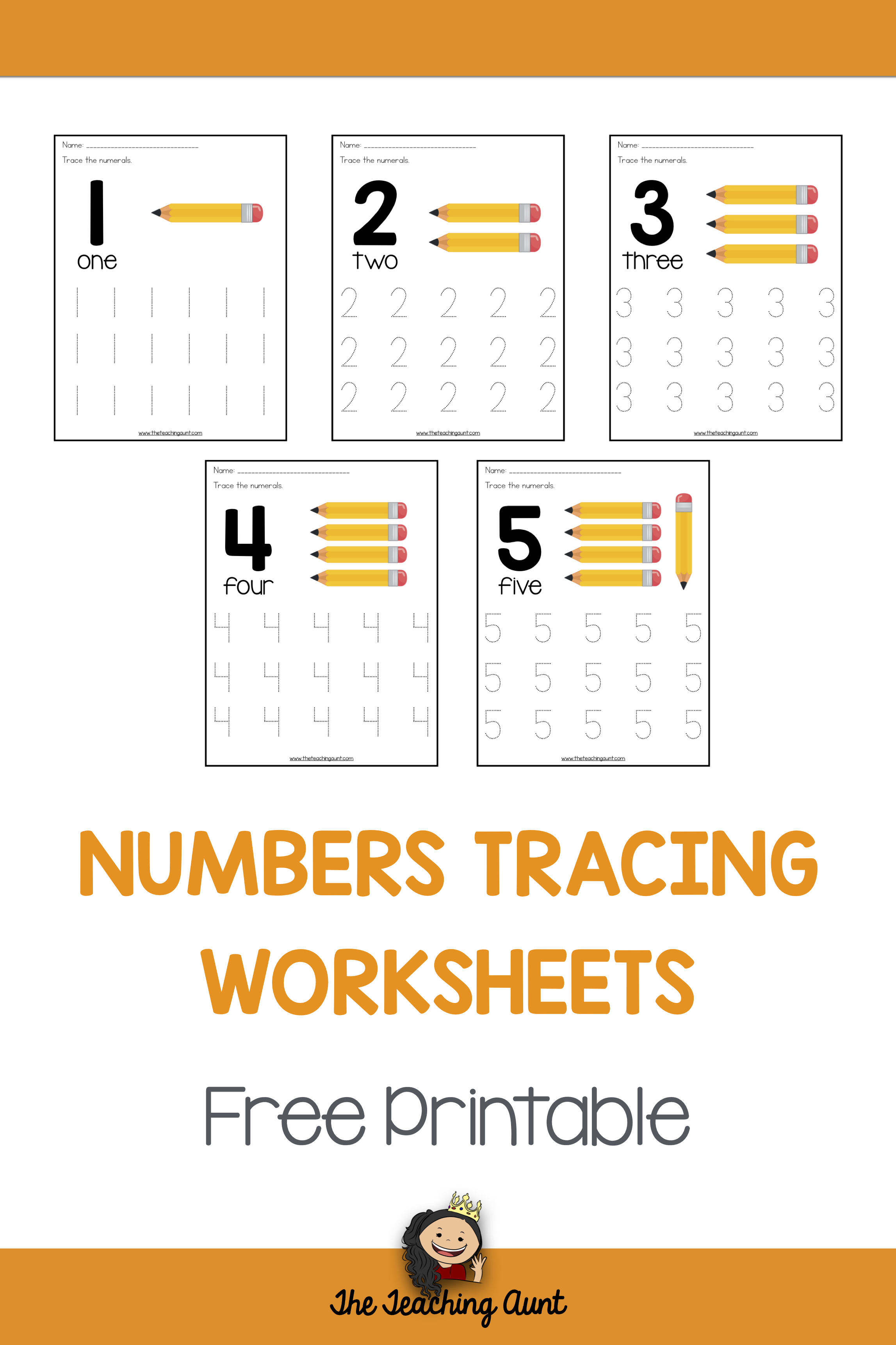Number Tracing Worksheets For Preschoolers With Images