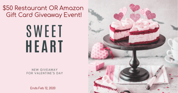 Photo of $50 Restaurant OR Amazon Gift Card Giveaway Event!