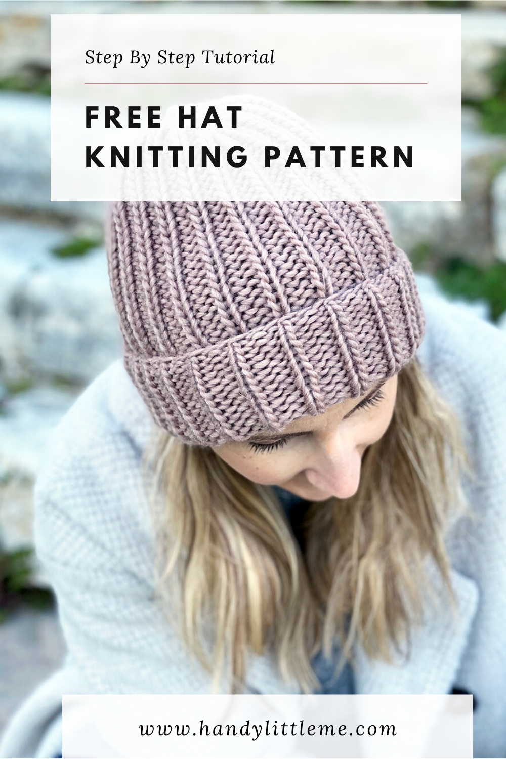 How To Knit A Hat With Straight Needles in 2020   Knit hat ...
