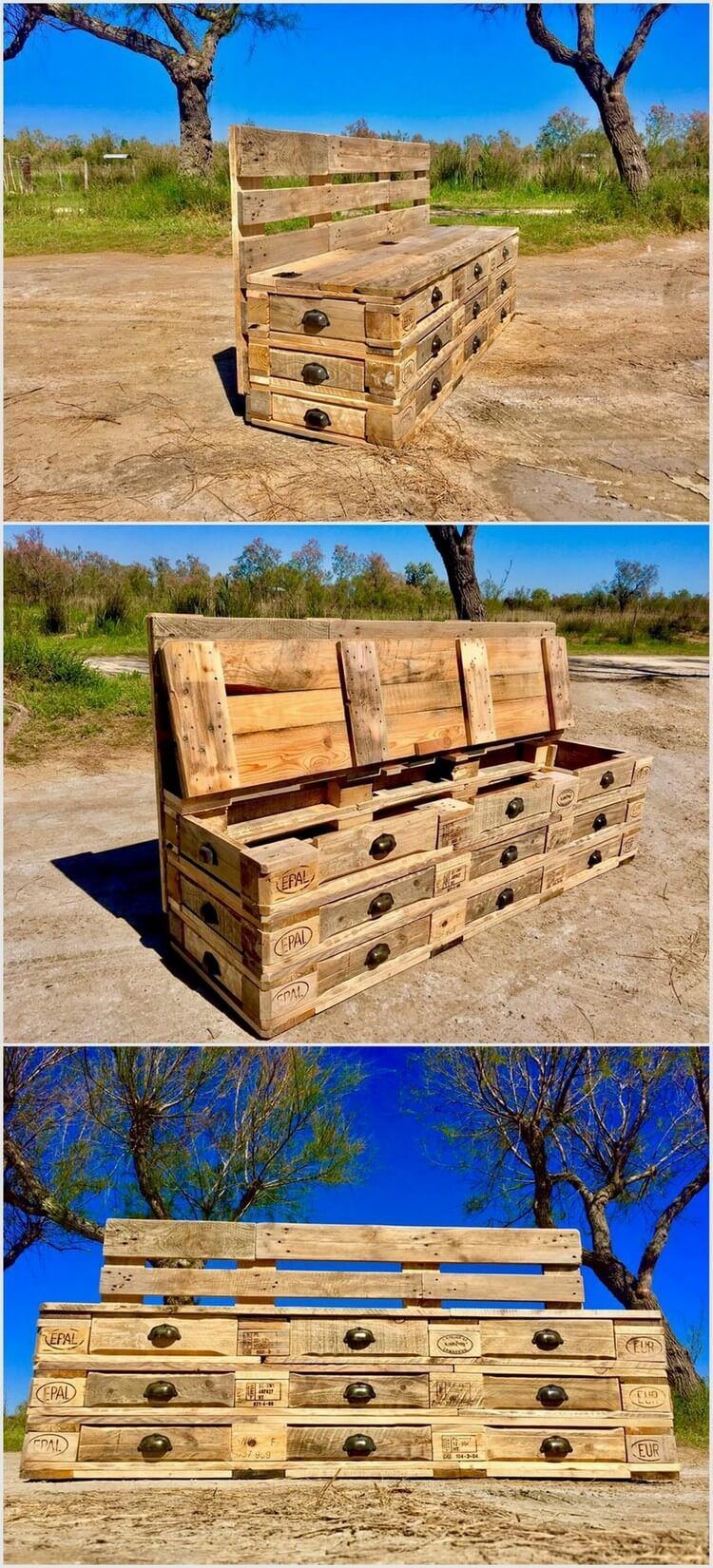 Schubladenbank Imaginative Ideas With Old Wood Pallets In 2019 Pallet Ideas