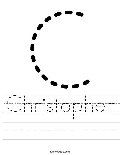 Christopher Worksheet - Twisty Noodle | Letter c ...