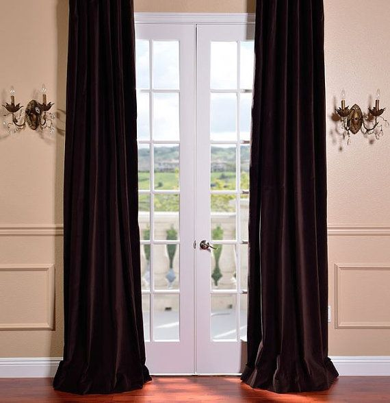 Chocolate Brown FAUX SUEDE Curtains Onyx By