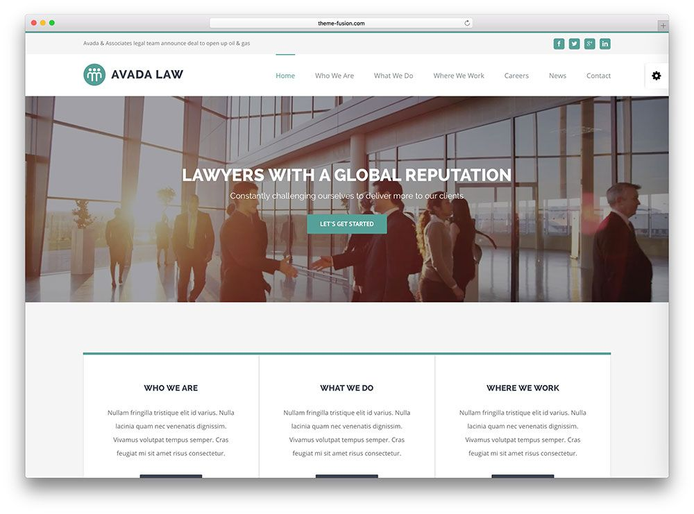 13-avada-lawyer-Templates-WordPress-para-Advogados… | Templates ...