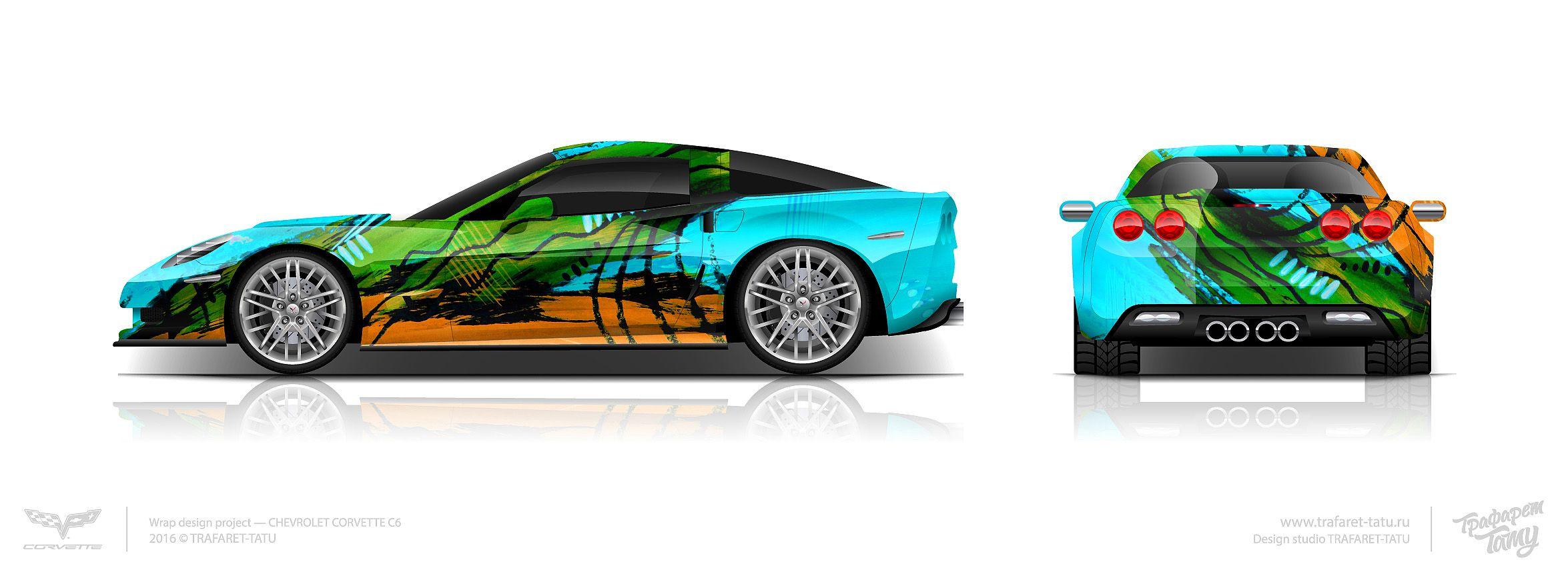 Design concept #5 Corvette C6 ZR1 for sale | Car wrap design ...
