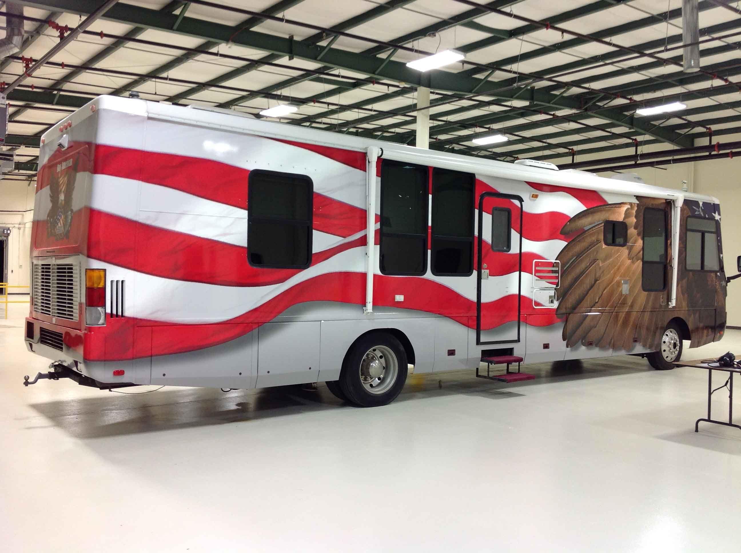 American Flag RV Side | Memorial Day Remeberance | Vehicles