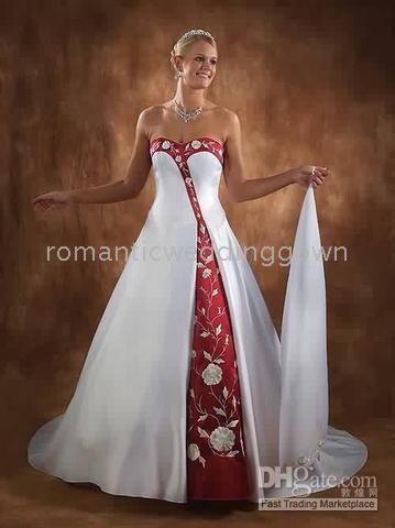 21ebb3f4d833 Wholesale - white wine red wedding dresses/Bride gown(any size/color)3016,  $51.23-81.42/Piece, 1 piece/Lot | DHgate.com