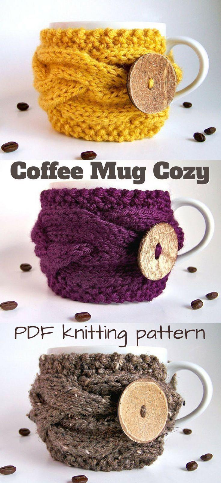 Knitting PATTERN, Tea Cozy Pattern, Coffee Cozy Pattern, Mug Cozy ...