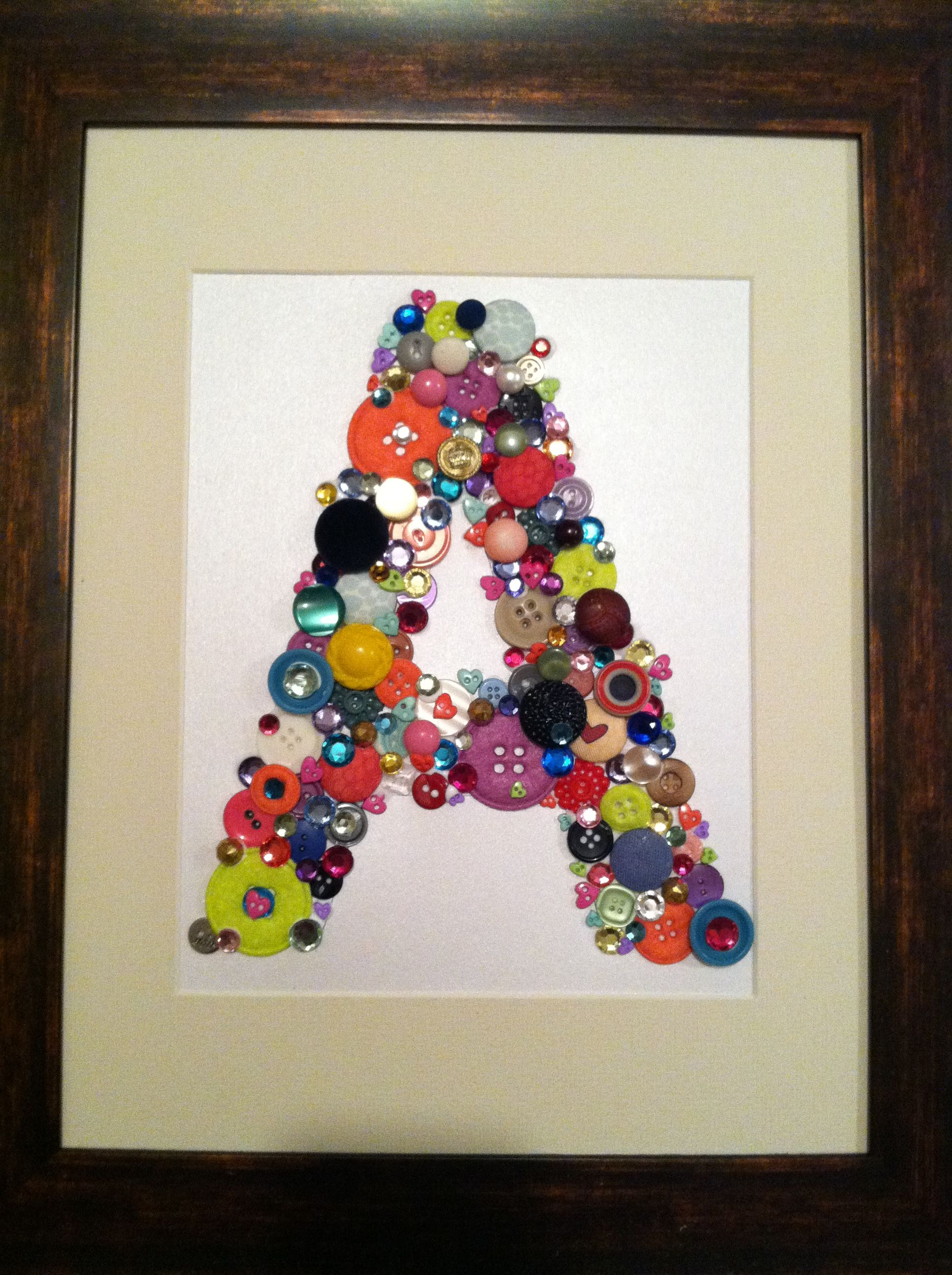 Just finished this button letter for the little 2 year old girl I