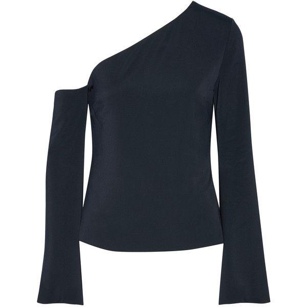 Cheap Pre Order One-shoulder Stretch-crepe Top - Black Cushnie et Ochs Outlet Amazon OOM0xSL9fz