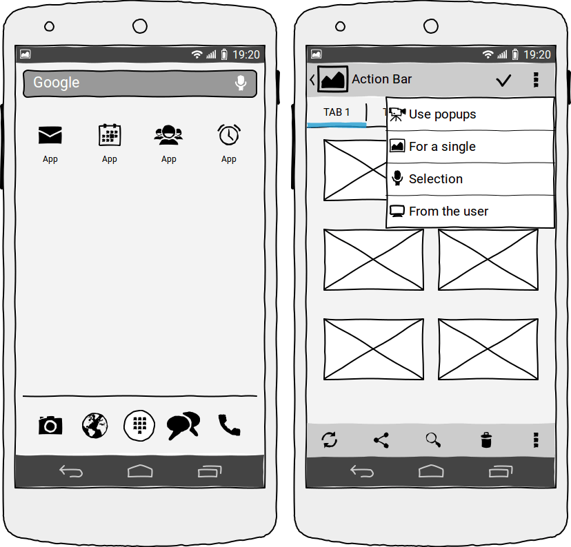 Android Apps Wireframesketcher Is A Wireframing Tool That Helps Designers Developers And Product Managers Quickly Create Wi Wireframe Mobile Application App