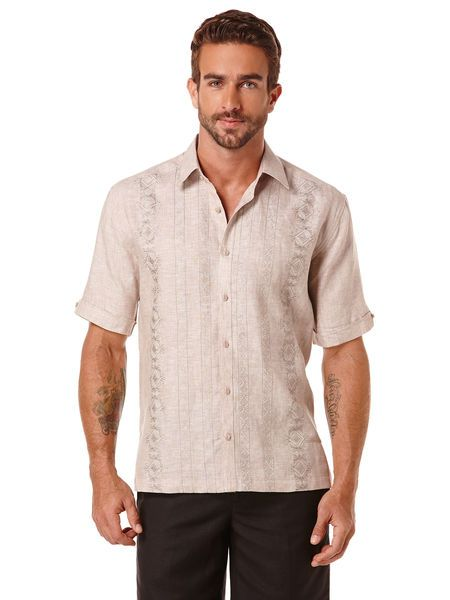 100 Linen Embroidered Shirt Shop Our Newest Arrivals For Fall Only On Www Cubavera Com Linen Guayaberas Tropical S Linen Shirt Men Shirts Guayabera Shirt