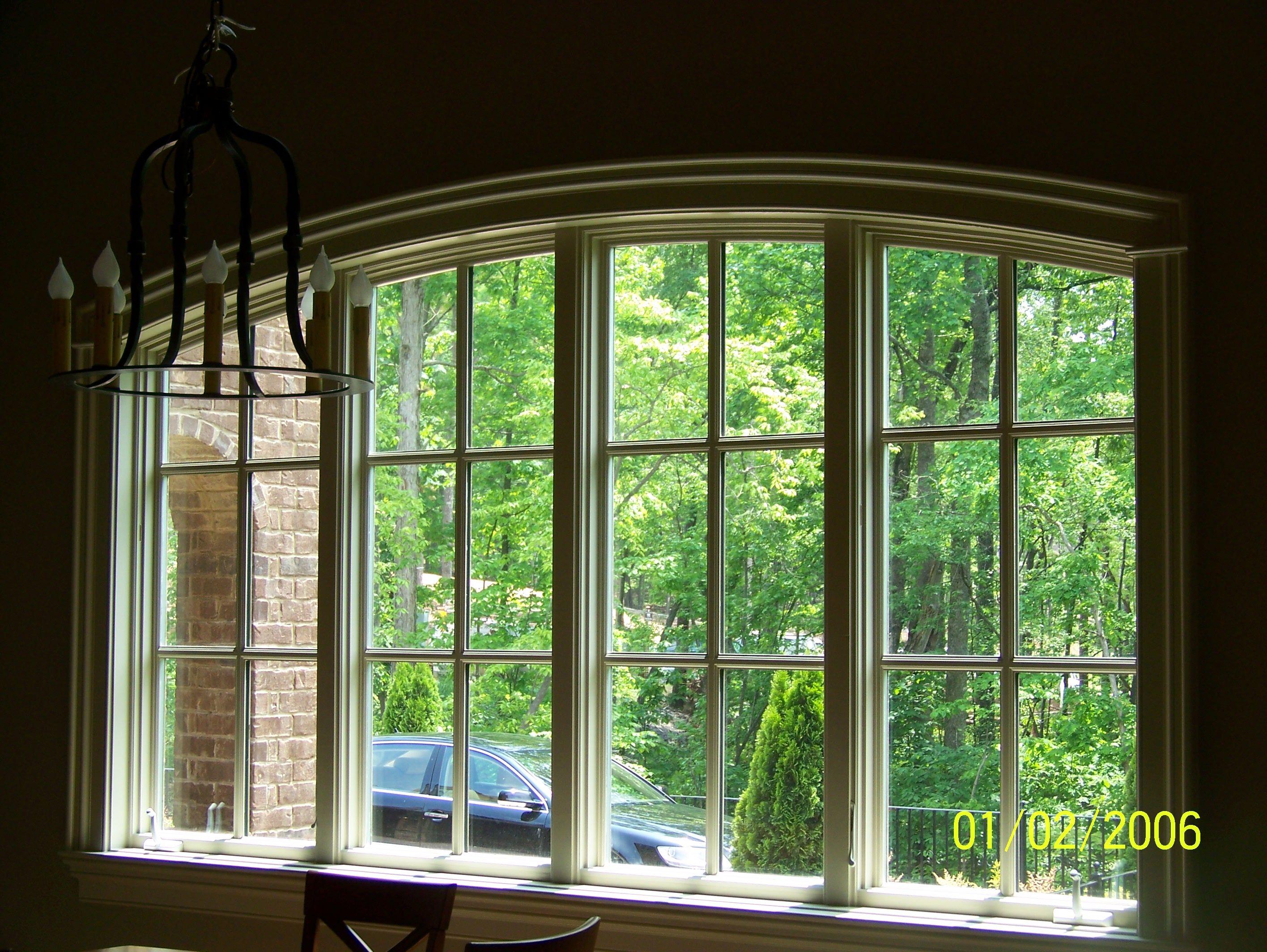 Craftsman window treatments - Curved Windows Elliptical Arch Window Detail True Craftsman