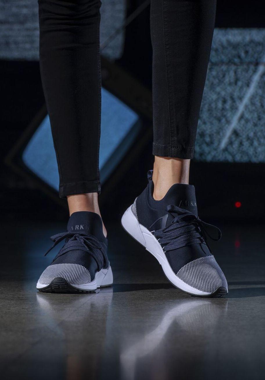 664fd4c2 ARKK Copenhagen | Raven Mesh S-E15 Midnight White Sneakers | Women's  trainers | Mesh | Fashercise.com