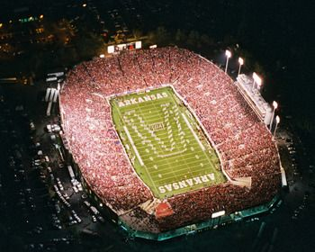 War Memorial Stadium Aerial Picture at Arkansas Razorback Photos
