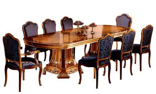 Colombo Mobili ~ Cherubini collection racetrack dining table model 502.2.300