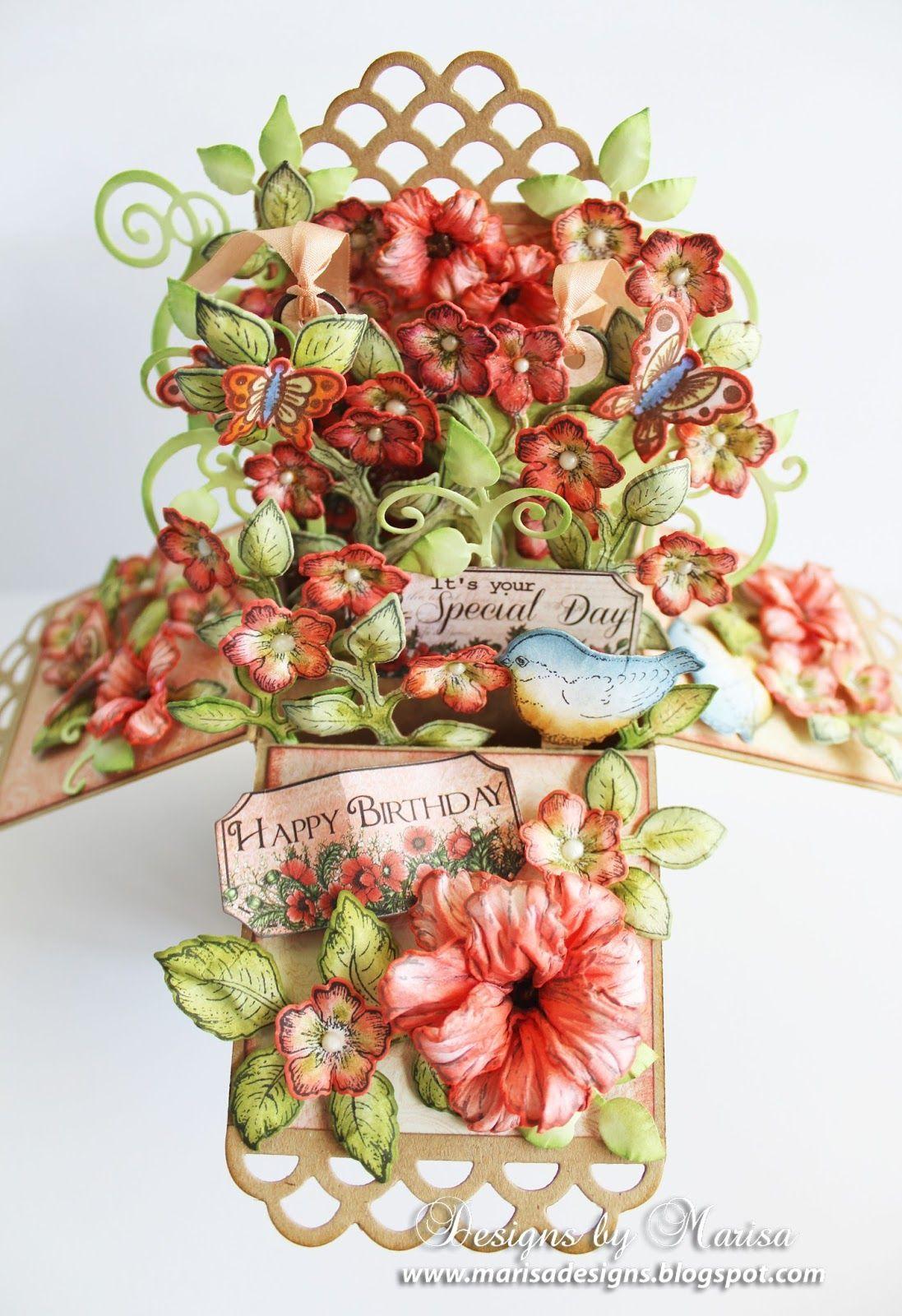 Designs by Marisa: Heartfelt Creations - Happy Birthday Pop Up Box Card Tutorial