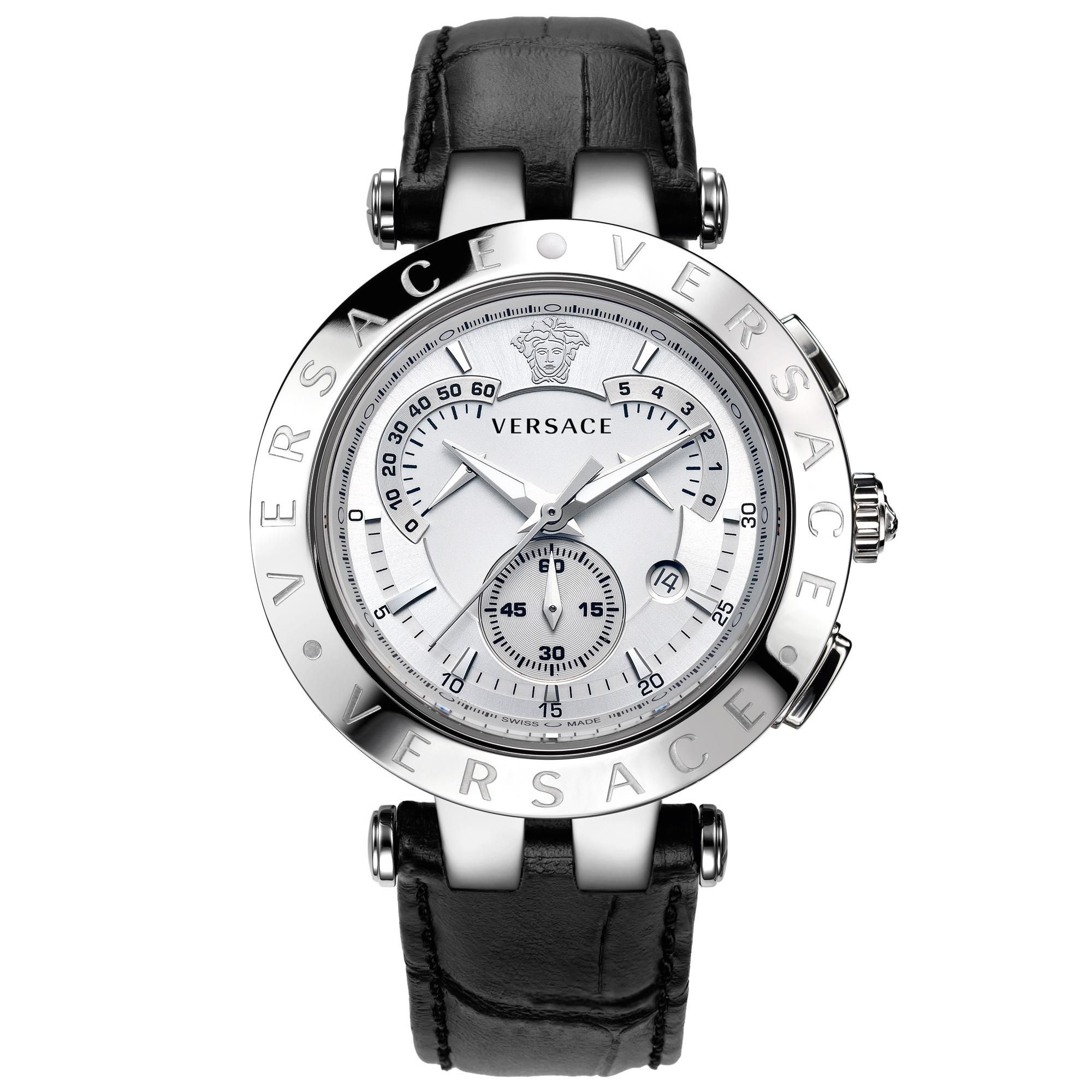 versace v race chrono mens watch steel silver dial black strap versace v race chrono mens watch steel silver dial black strap 23c99d002 s009
