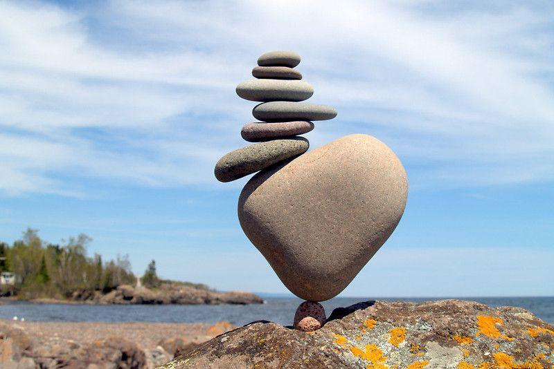 Balance Sculpture De Roche Land Art Landart