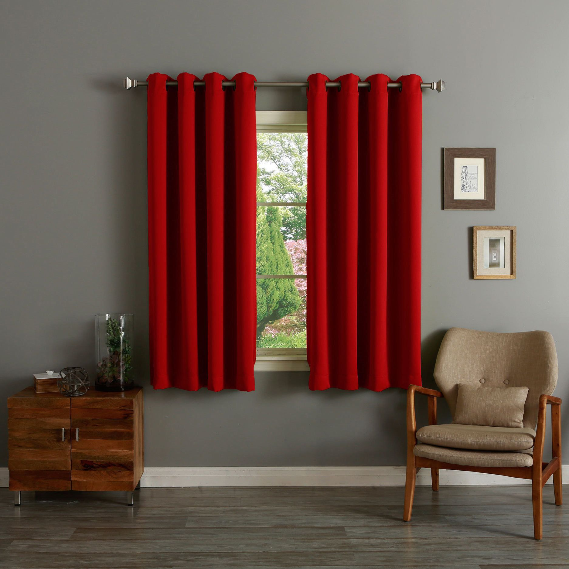 Outside window treatment ideas  this blackout curtain pair keeps sunlight and prying eyes out it