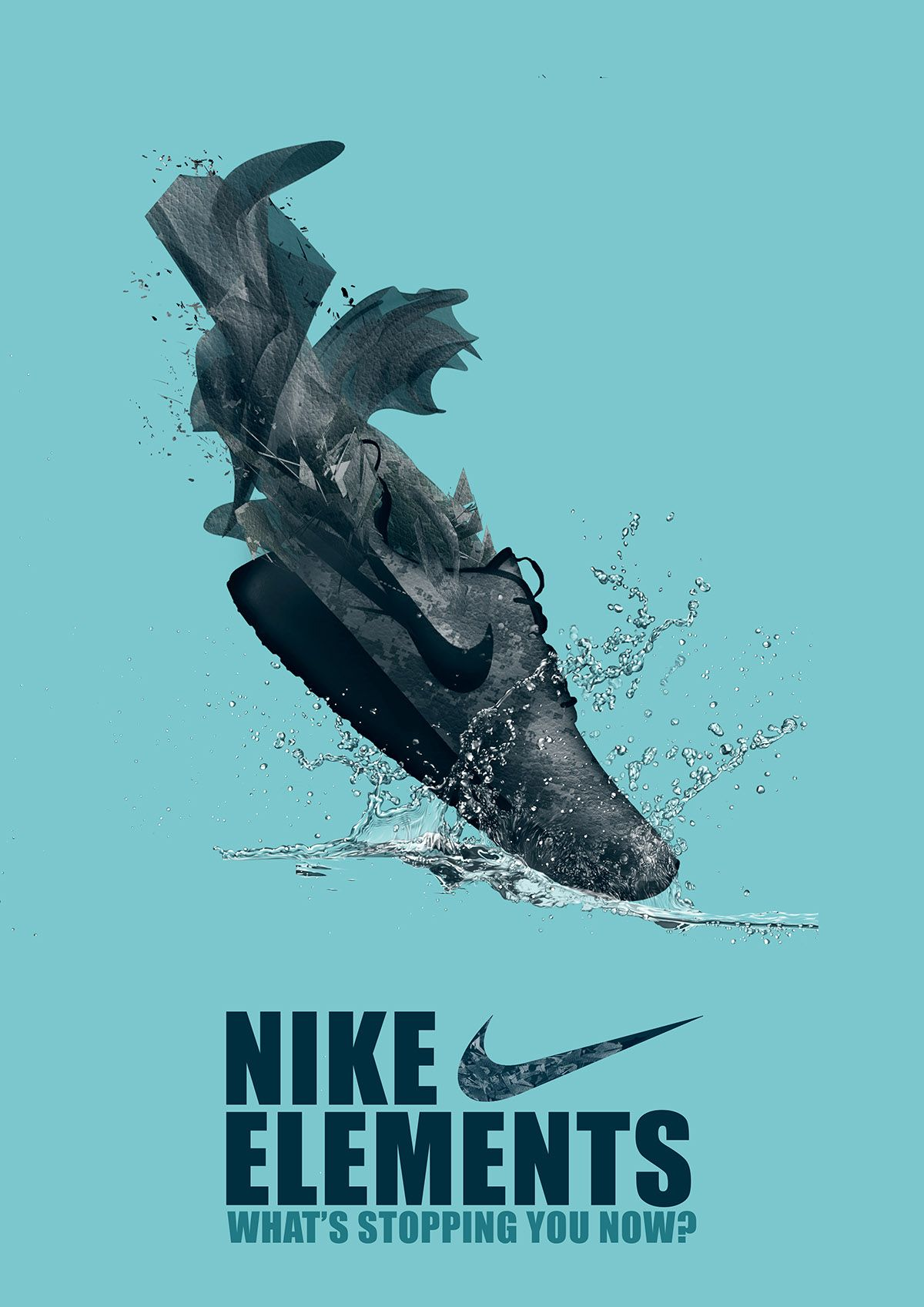Nike Elements Advertising Campaign On Behance Advertising Campaign Shoe Advertising Sneakers Illustration