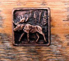 Charmant Hand Poured   Pewter Moose Knob Rustic Lodge Cabinet Hardware   Cabin  M112S B