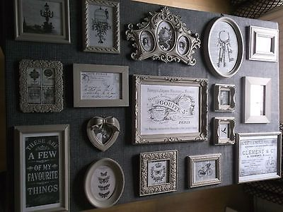 12 Shabby Chic French Vintage style shades of Grey Picture Photo ...