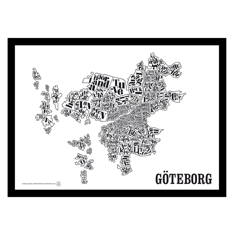 karta göteborg poster Göteb/ Gothenburg poster – TGIOC #interior #design  karta göteborg poster