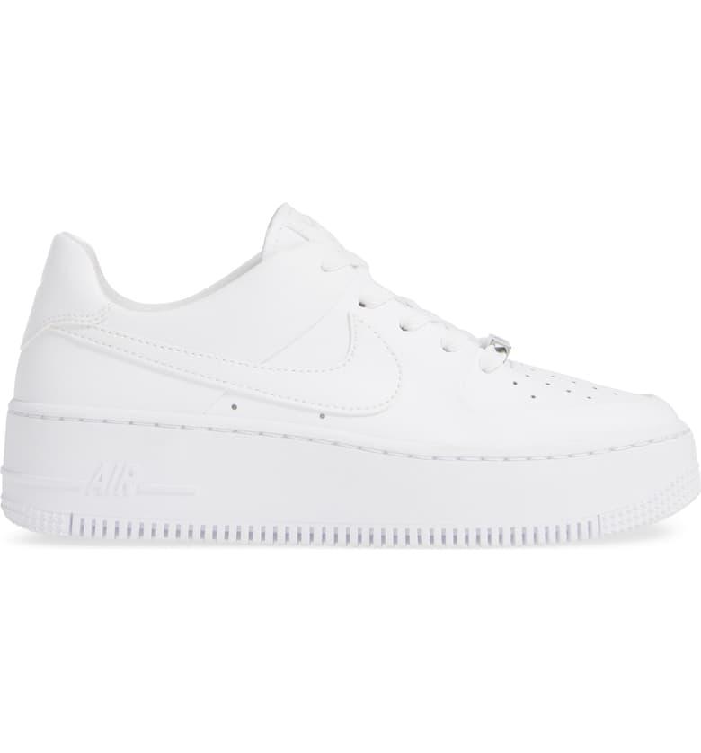Nike Air Force 1 Sage Low Platform Sneaker Women Nordstrom Popular Sneakers White Platform Sneakers Womens Sneakers