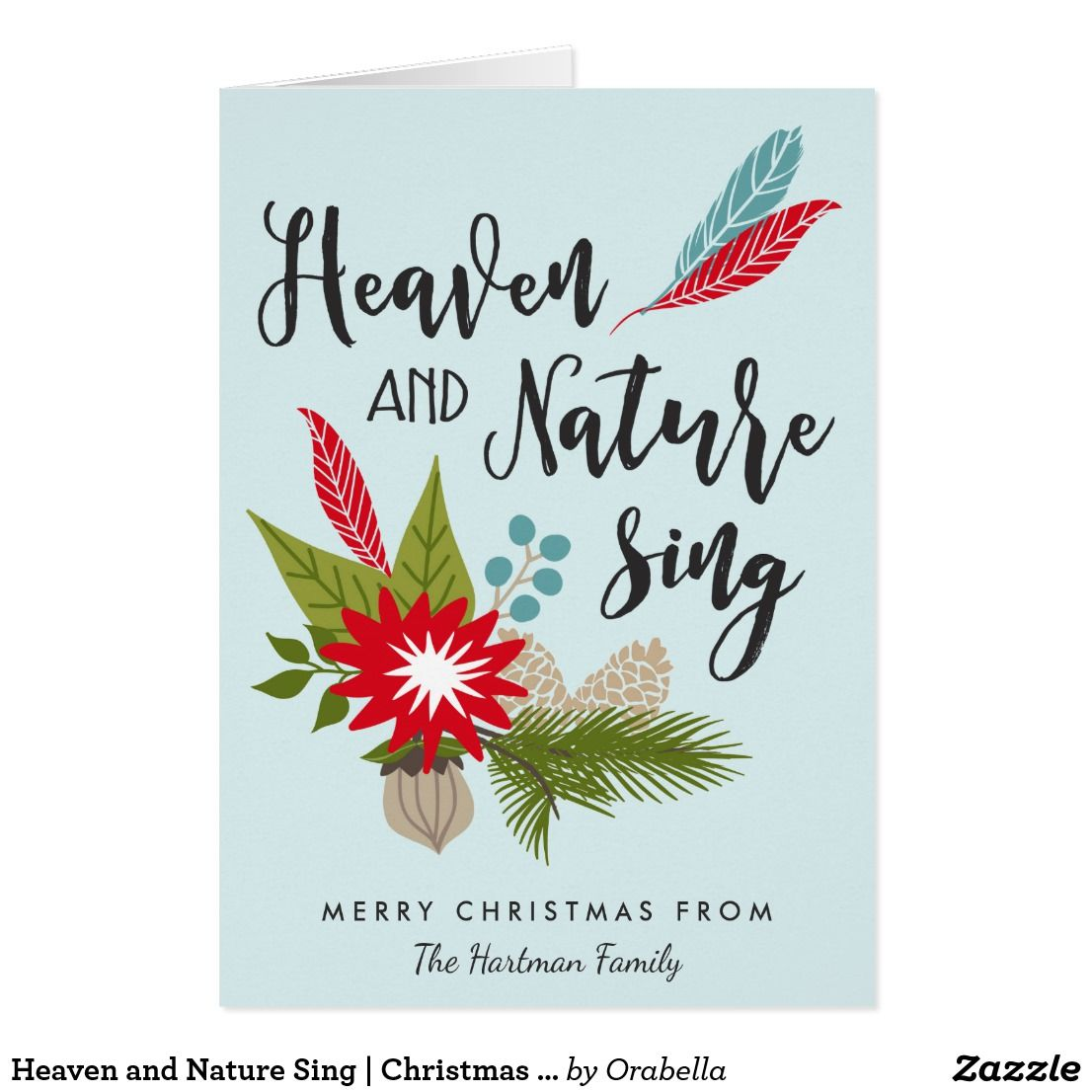 Heaven And Nature Sing Christmas Card Holiday Greeting Cards
