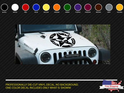 Details About Jeep Wrangler Decals Metal Mulisha Vinyl Hood Star