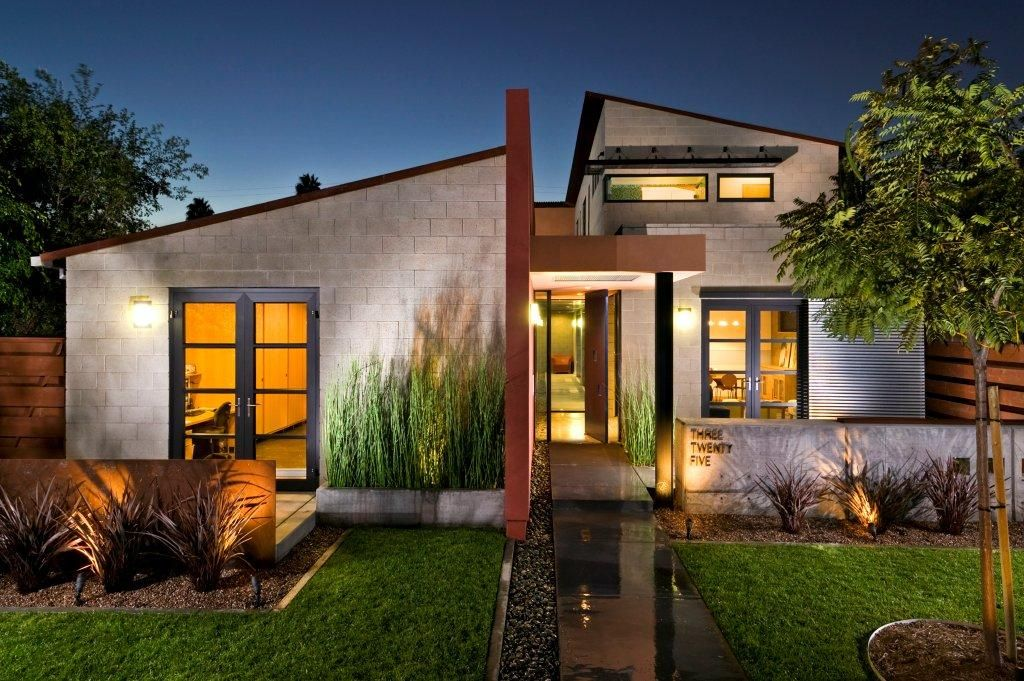Modern bungalow modern prairie style home southern for Modern houses in california