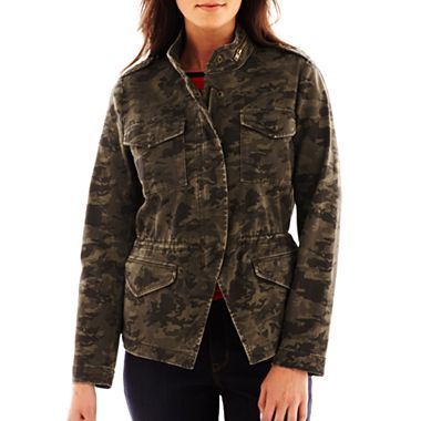 a.n.a® Camo Utility Jacket - jcpenney