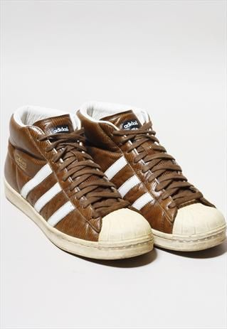 online store a91ef 8586f VINTAGE ADIDAS PRO MODEL SUPERSTAR LEATHER HI-TOPS